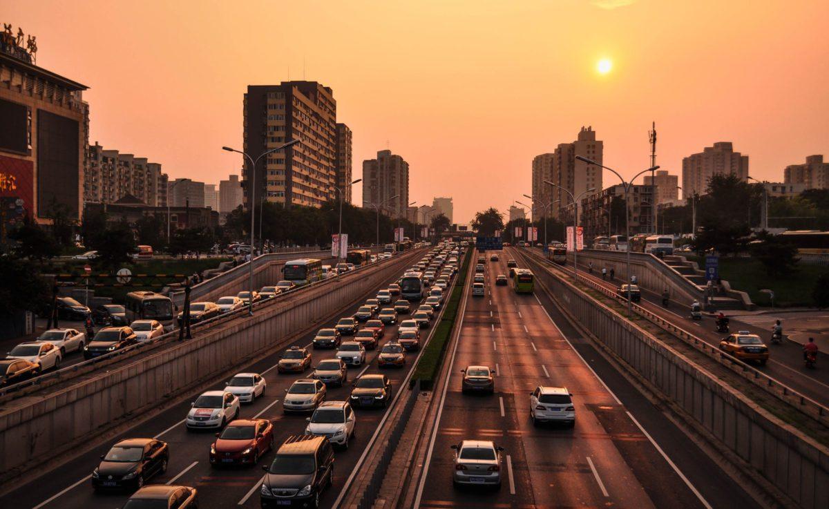 Rosnącą liczba samochodów